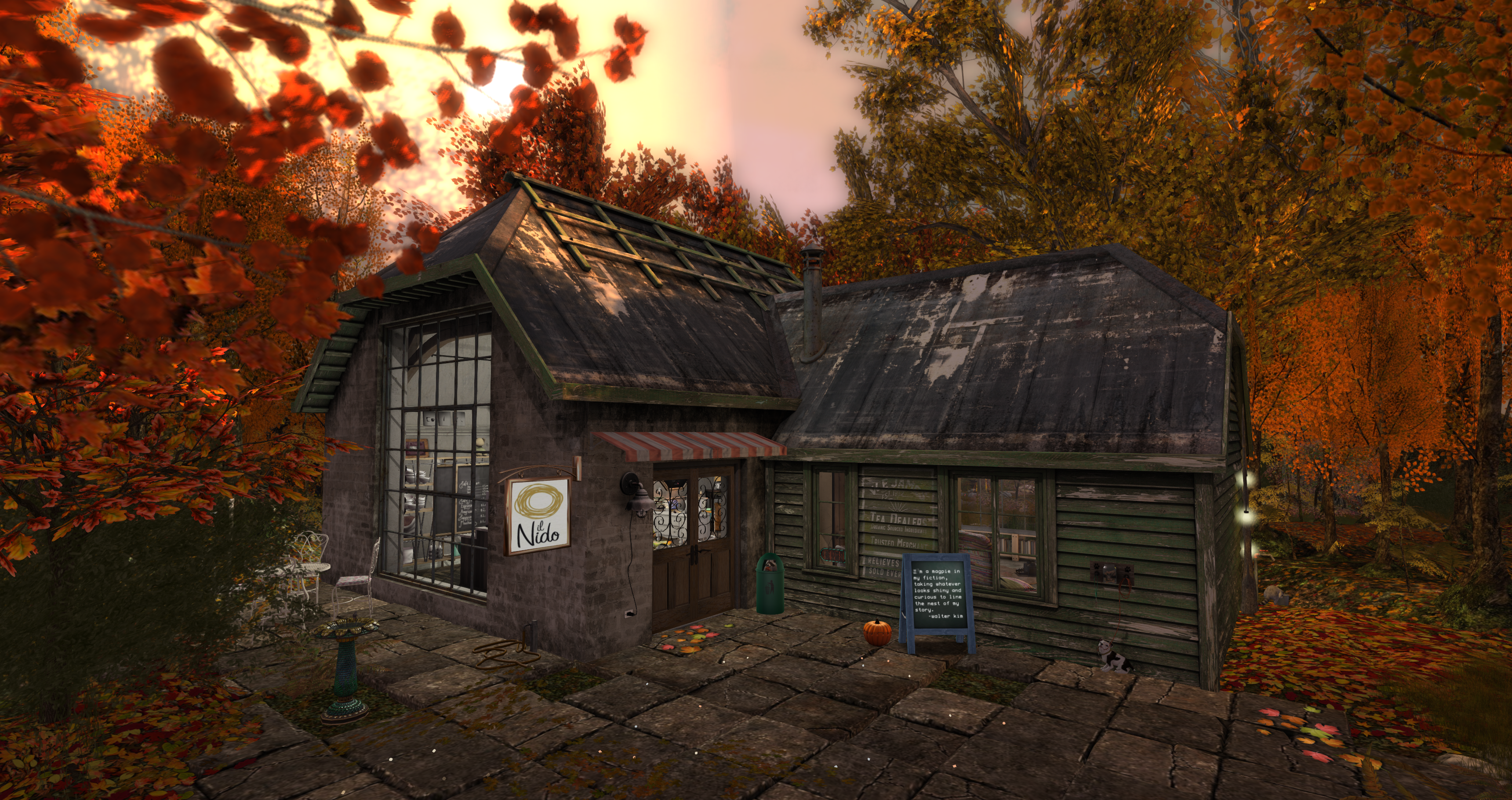 The Cafe Scene of Second Life